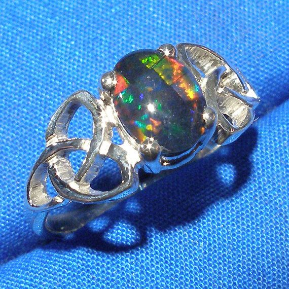 Celtic Triskel Ring Mosaic Opal Triplet Hand by PaulTheJeweler, $59.00 Yep.... this... this is perfect.