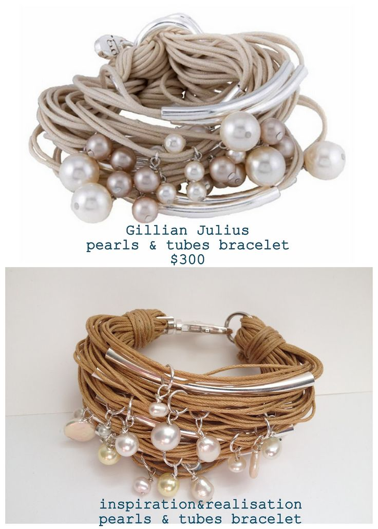 DIY Pearls and Tubes Bracelet Tutorial from inspiration & realisation here. This