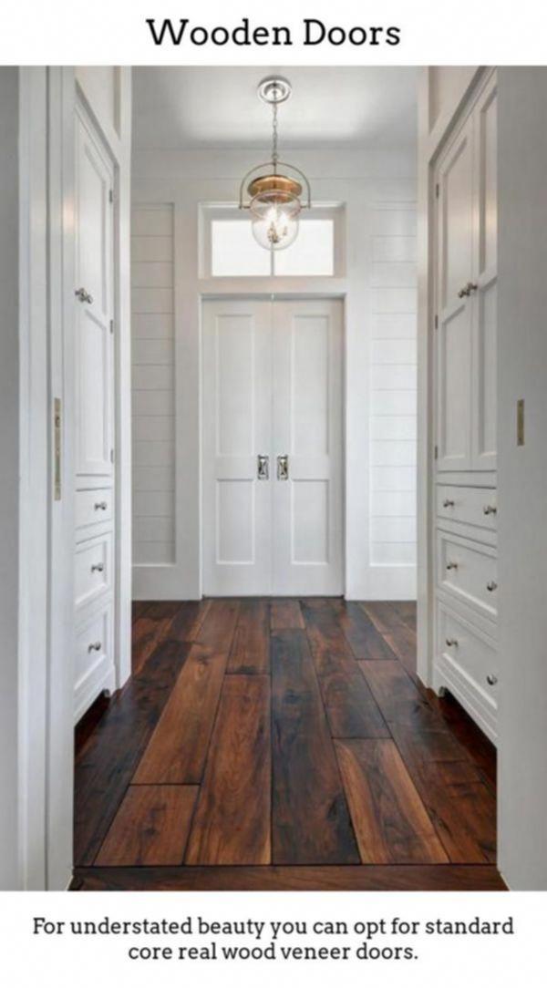 Pine Interior Doors White Wooden Internal Doors Inner Door