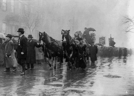Procession in memory of the victims of the Triangle Shirtwaist Factory fire, New York, 1911