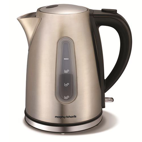 The Brushed Stainless Steel Accents Jug kettle from Morphy Richards has the style and the functions to make your life simpler.