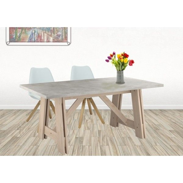 Parisot Glasgow Dining Table - trestle style dining table great in your home, a cafe or a restaurant!