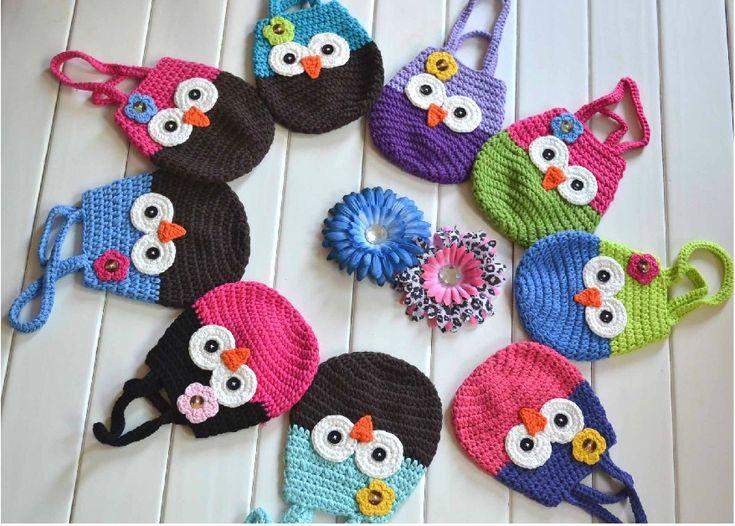 Knitting Pattern Handmade Crochet Kids Coin Purse,Animals Owl Monkey Cotton Wallet,Women/Girls Children Totes Hand Bags(China (Mainland))