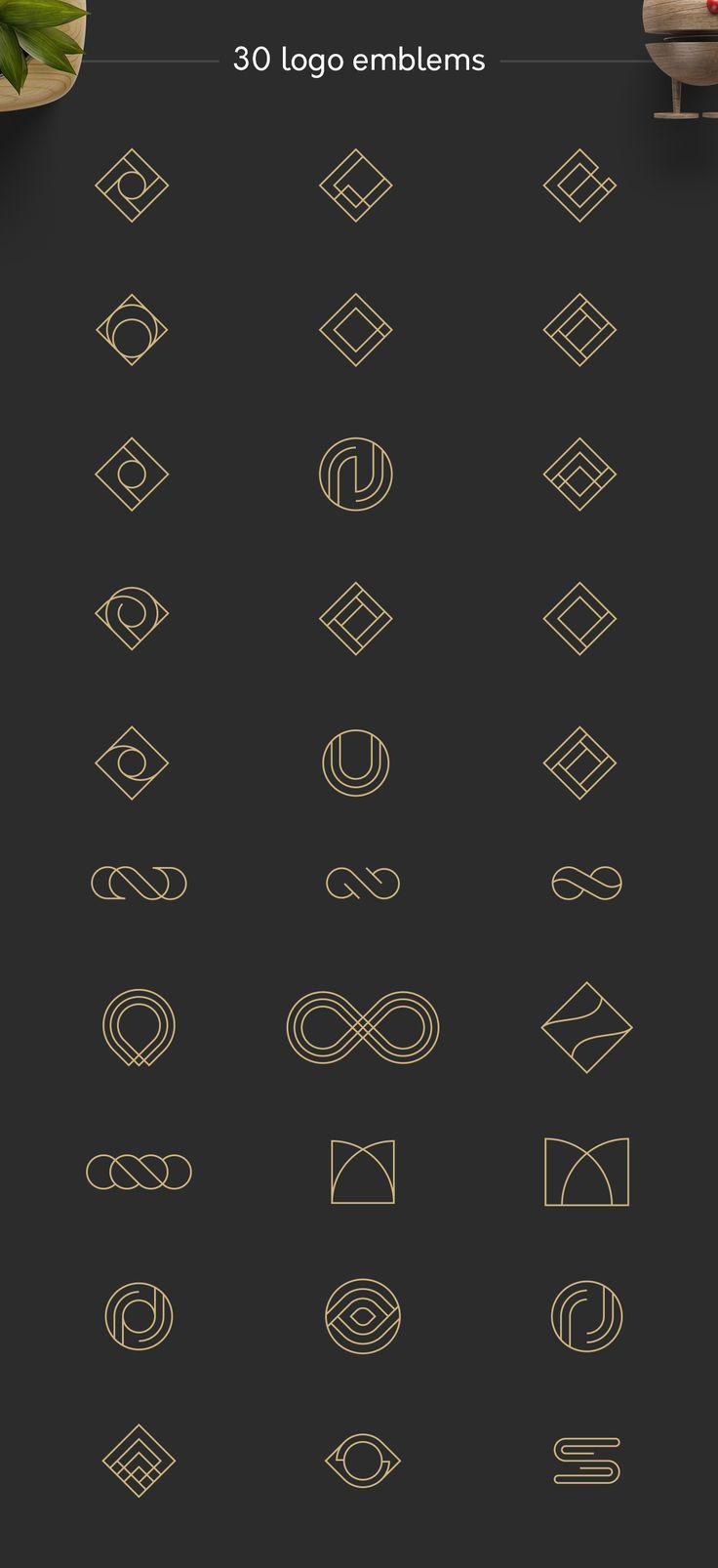 Geometric Logos by Davide Bassu on @creativemarket