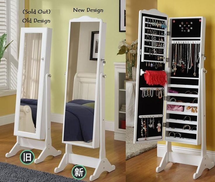 Genial idea el armario de cuerpo entero- armario para accesorios.    Love this  2 in 1 korean mirror & accessories closet