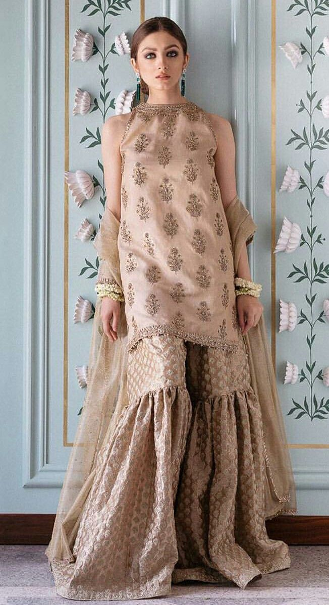 cream colored gharara