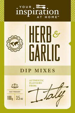 Herb and Garlic  A versatile blend combining the fresh flavour of basil and oregano with the rich spiciness of chives and garlic. TIP: Rub this dip mix on your roast before cooking, add flavour to a quiche, blend with butter to make your own herb bread or re-chill the herb butter to top your steak, fresh off the BBQ!   www.stephaniebennett.yourinspirationathome.com.au www.facebook.com/stephaniebennett.yourinspirationthome.