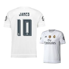 amazon adidas youth real madrid james 10 ucl soccer jersey 1516 nice adidas  real madrid white 4c835e195