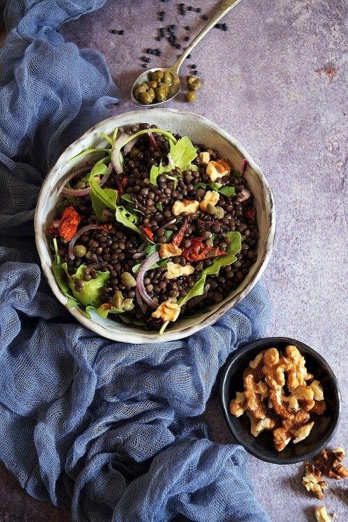 Belugalencse-saláta recept