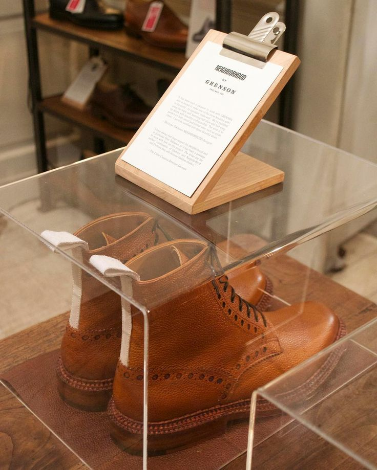 // Our launch of the NEIGHBORHOOD x Grenson collab at our Soho store in London //