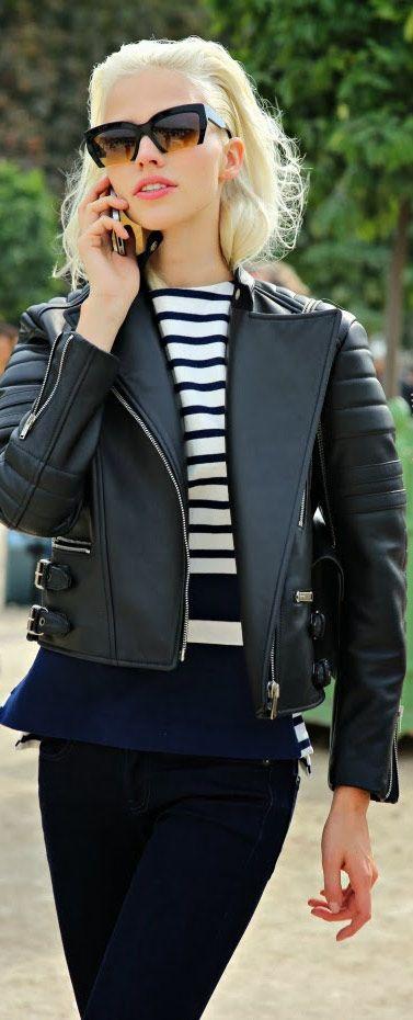 Street Style | Leather Jacket