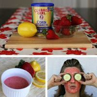 Spa in the Kitchen: Multiple Recipes for Different Facials. Also note the benefits of some of the ingredients: Honey- brightens, tightens, and fights wrinkles and acne Oats- moisturizes and mildly exfoliates Yogurt- refines pores and sooths irritation Egg white- great for oily skin Lemon juice- great for oily skin Egg Yolk- great for dry skin Olive Oil- extra softening and moisturizing