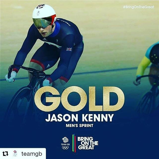 #Repost @teamgb with @repostapp ・・・ We knew Team GB were going to be in the medals...what we didn't know was the order!  GOLD for Jason Kenny and we simply couldn't have asked for more #BringOnTheGreat #Cycling #Rio2016 #teamgb #olympicgames