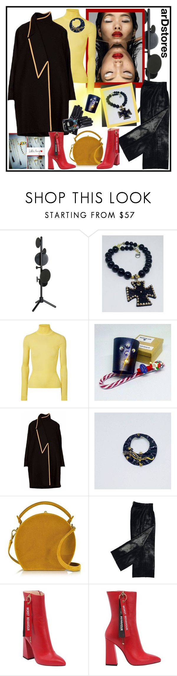 """arDstores (2)"" by carola-corana ❤ liked on Polyvore featuring Tom Dixon, Calvin Klein 205W39NYC, Bertoni, Havva, Gucci, handmade and dinaluigi"