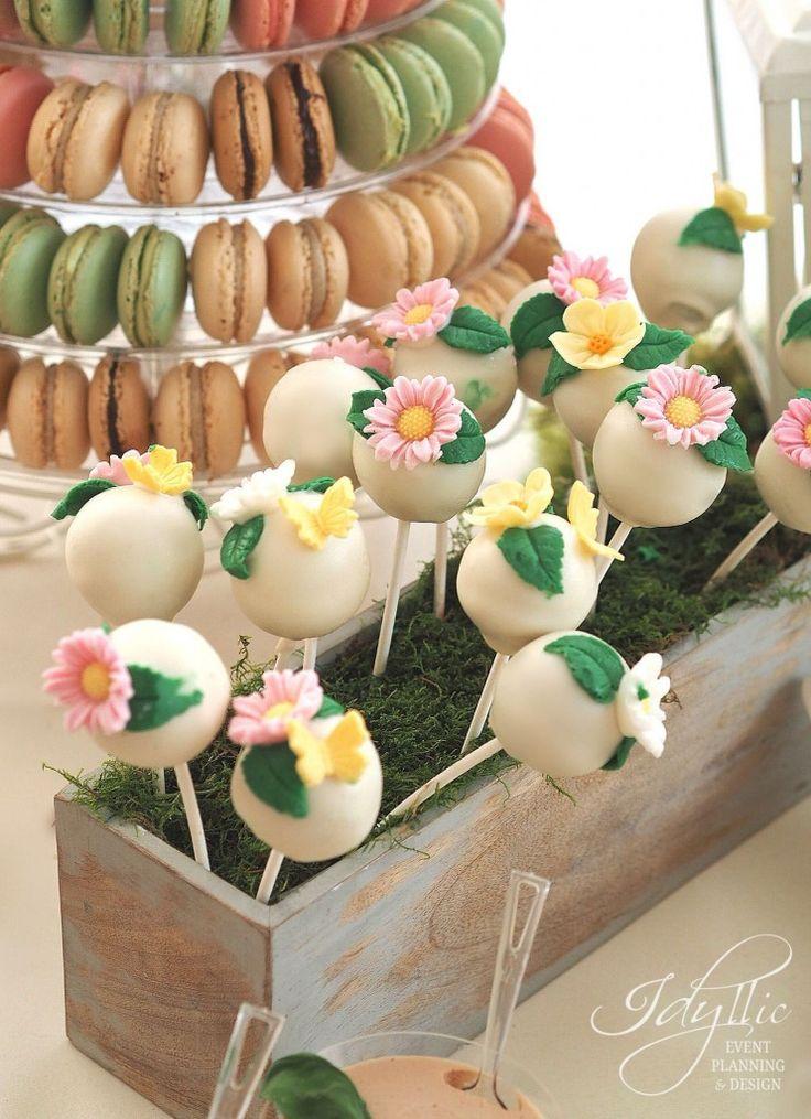 popcakes delicioase tema Garden Party   candy bar Bucuresti, Romania