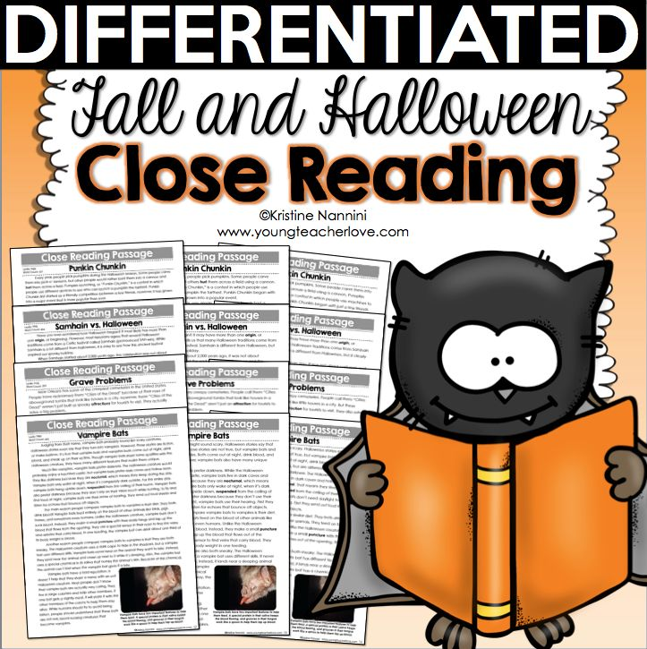Fall and Halloween Differentiated Close Reading Passages, Text-Dependent Questions & More by Kristine Nannini