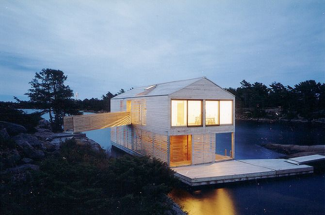 MOS Architects: Floating House - Lake Huron