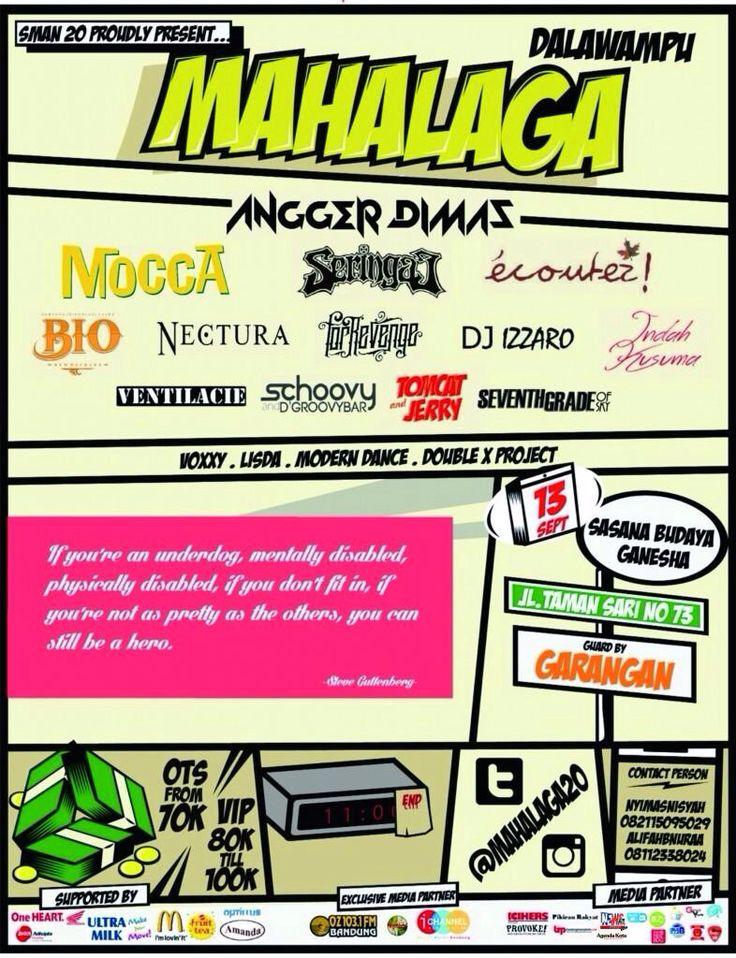 MAHALAGA presented by SMAN 20 Bandung  13 September 2014