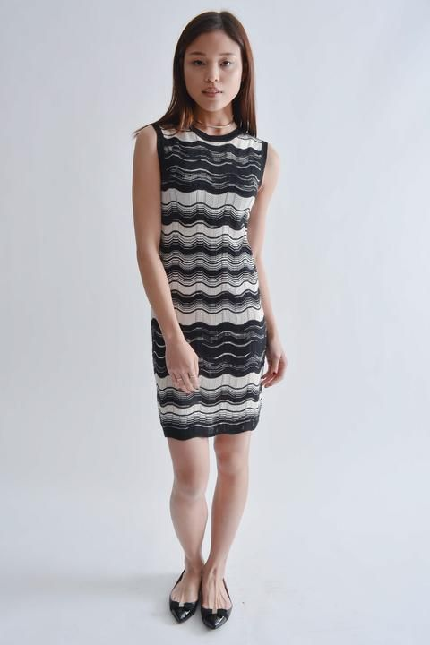 ce5fc5fef16 Missoni Black   White Knit Sheath Dress Size XS