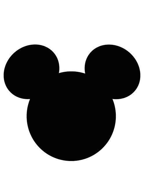 más y más manualidades: 12 invitaciones con siluetas de Mickey /Minnie Mouse