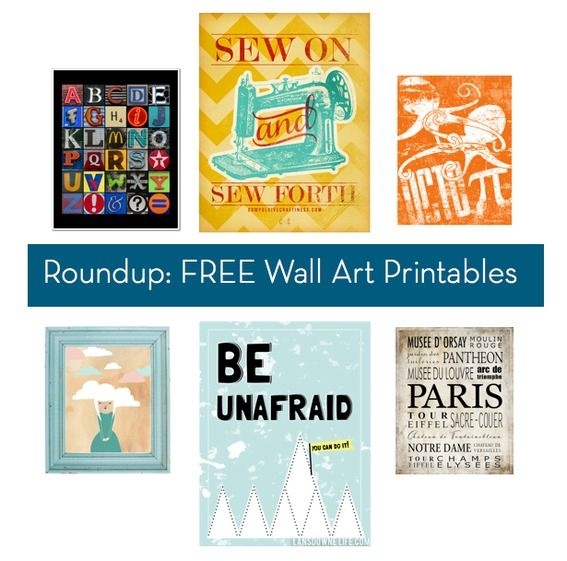 Hundreds of FREE Wall Art Printables