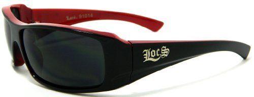 LOCS Sunglasses Red Black OG Hardcore Shades Dark Lens 914C Wholesale LOCS DG XLOOP CHOPPERS. $4.99
