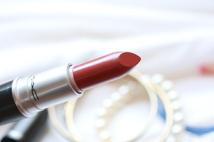 MAC-brick-o-la-lipstick-review. This was a good red brown, i wasn't in loooooove with it though. I'd buy a dupe (elf rich rapberry isn't sold anymore).