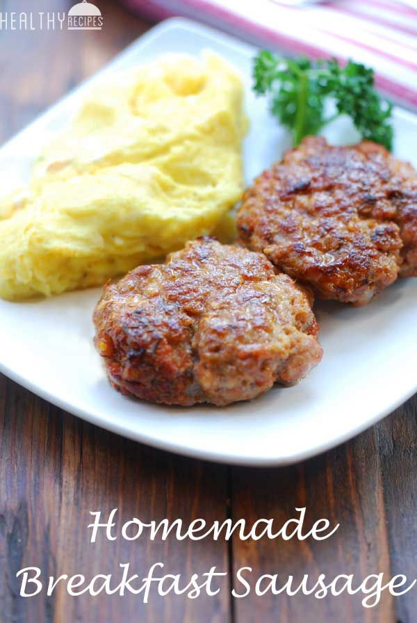 Homemade Breakfast Sausage... it's so easy to make homemade breakfast sausage, and the result is so very tasty. You can make them in advance, and freeze (place parchment paper between patties) for quick and easy midweek meals.
