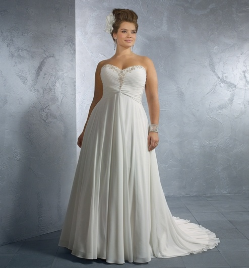 Elegant plus size wedding dress patterns wedding ideas for Wedding dress patterns plus size
