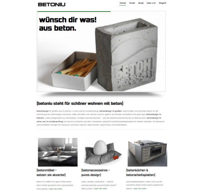 neue betoniu website