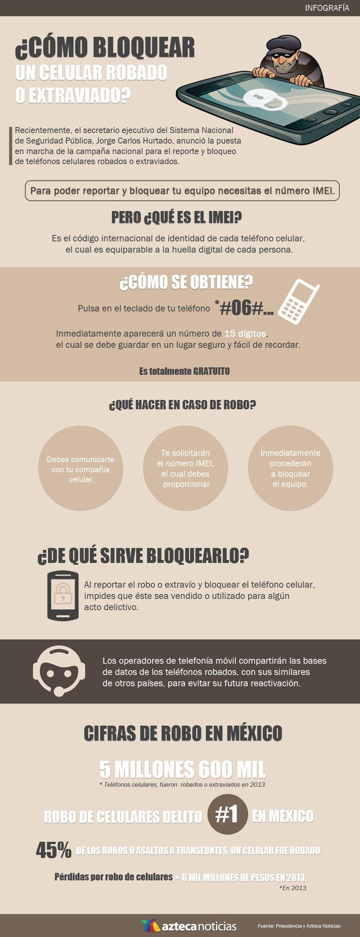 ¿Cómo bloquear un celular robado o extraviado?
