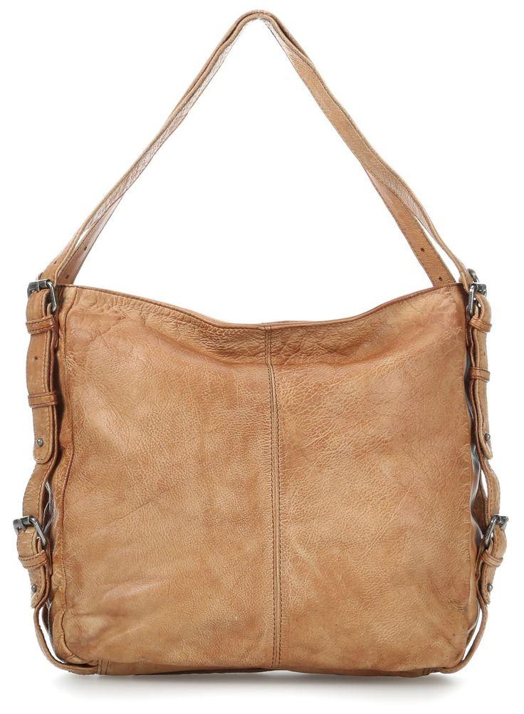 Tacken Handtasche Leder camel 35 cm