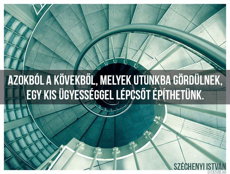 Széchenyi István idézete a fejlődésről.