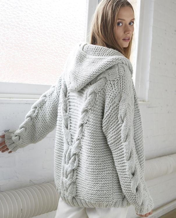 Gebreid vest met ribbelsteek en sjaalkraag | Knitting women