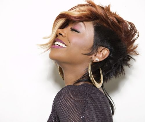 Edgy hair with a side of glam---wowza!