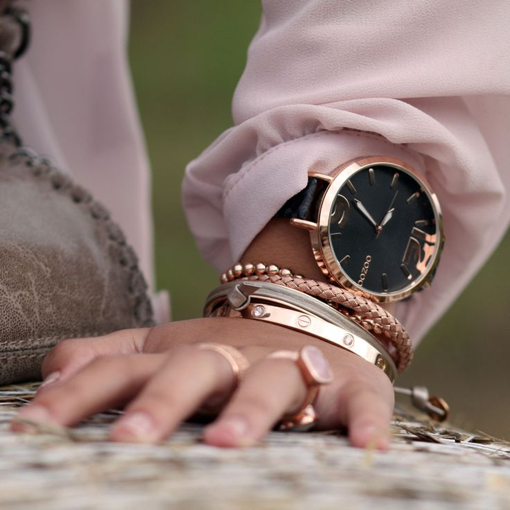 Bella Jewelry Store   Trend – Rosé Gold Oozoo watch with nice rose gold bracelets