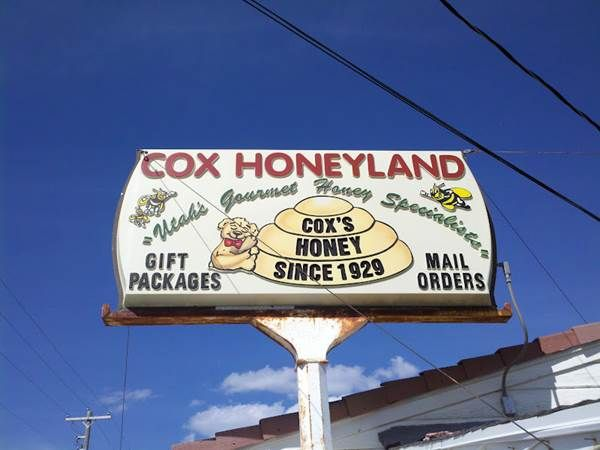 Cox Honeyland.  Family owned farm outlet for gourmet honey, honey butter, wax, honey ingredient treats.  Free self paced tour of farm with video, glass observation hive, and look at the manufacturing facility.