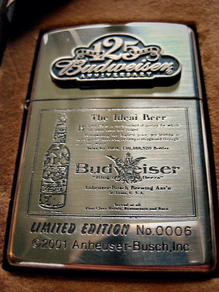 Zeldzame Budweiser Zippo limited edition No 0006.