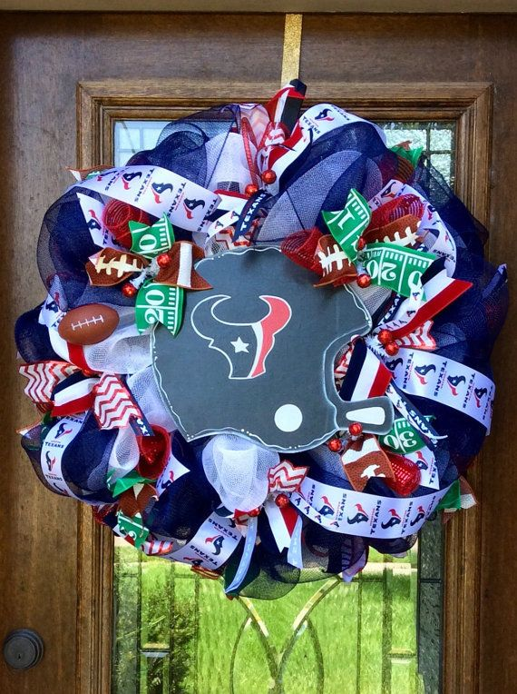 Houston Texans NFL Football Team Wreath Game Day Wreath