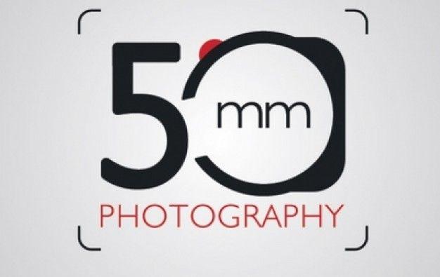 Logotipo Fotografia 50 milímetros com câmera