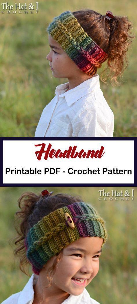 Make a colorful cozy headband. headband crochet pa…