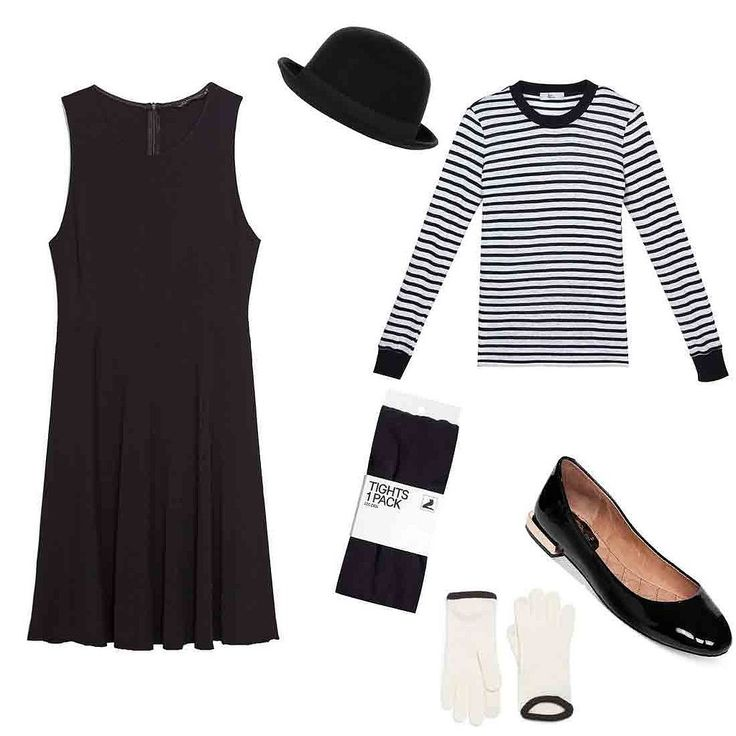 Halloween Costume Ideas With a Black Dress | POPSUGAR Fashion  Easiest way to avoid awkward, party small talk with your friend's friend's boyfriend: Be a mime.