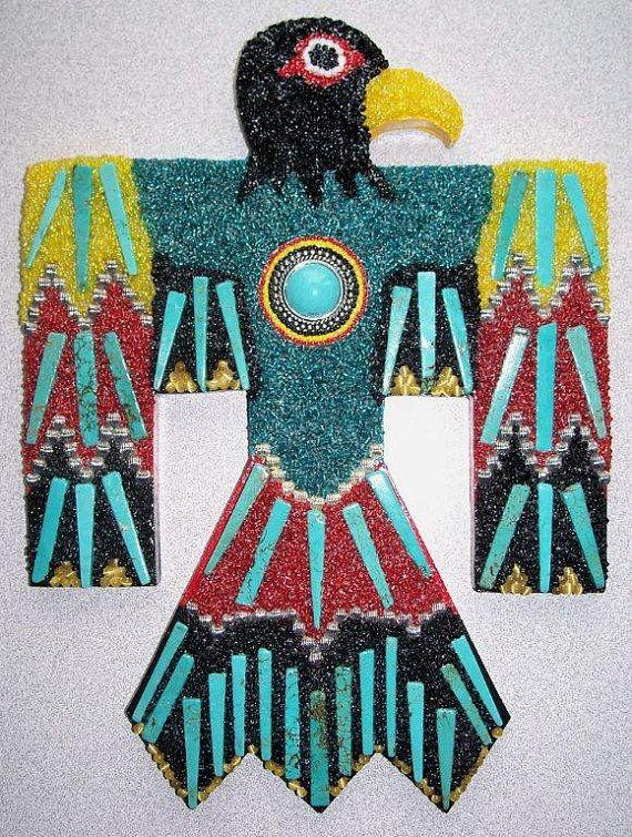 Thunderbird   A Native American Symbolic Mosaic by RenegadeRose, $86.00
