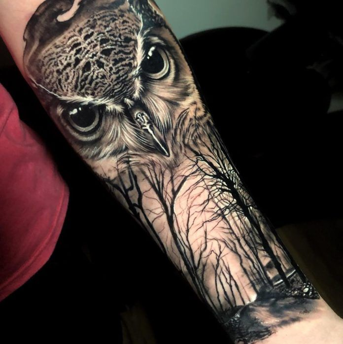 40 Tatouages De La Foret Pour Hommes Tatuagem De Coruja Masculina Tatuagem Realista De Coruja Tatuagem Coruja