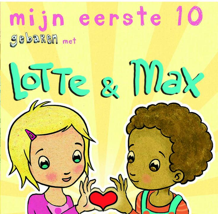 Mini-boekje van Lotte en Max; leer samen met je gebarenvriendjes 10 leuke en handige gebaren
