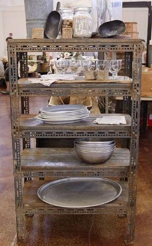 industrial shelving + wood and metal = love by rhoda