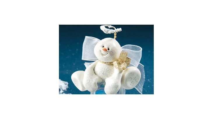 Clay Snow Angel Ornament