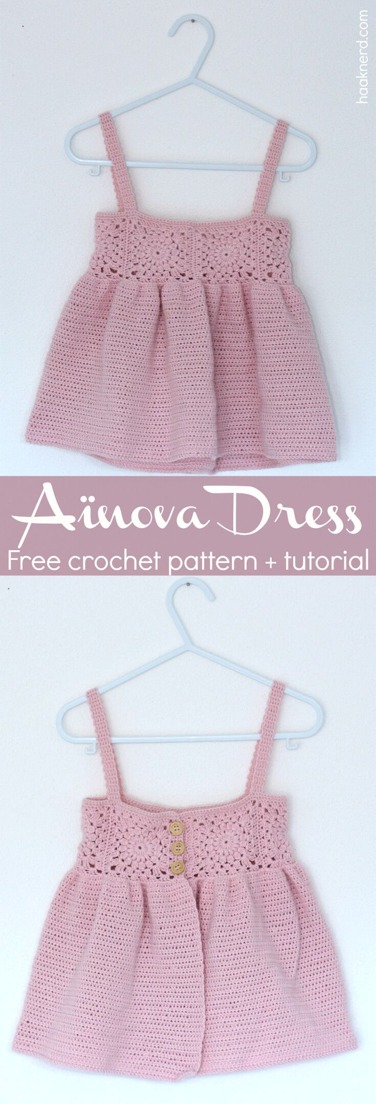 Aïnova Dress - Free crochet pattern with a step-by-step photo tutorial via @haaknerd