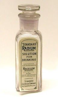 "☞ MD ☆☆☆ ""Standard Radium Solution for drinking""."