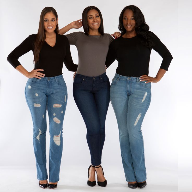 """More Best Jeans for an Apple Shape: Hello! Skinny Barely Bootcut jeans, from $ James Jeans Twiggy legging jeans, $ Marc Allison Michi skinny jeans, $ Joe's Jeans Best Friend jeans, $ Body Type: Tall """"It's such a challenge to find cute jeans that are long enough for me. These skim the floor, which means I can wear heels if I want to."""